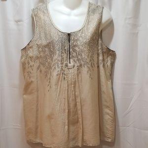 Coldwater Creek silk/cotton Size L